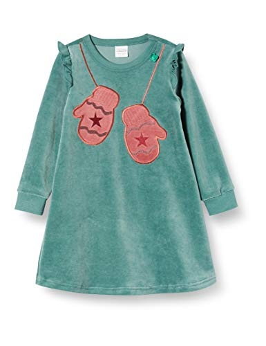 Fred's World by Green Cotton baby-meisjes jurk Velvet frill dress