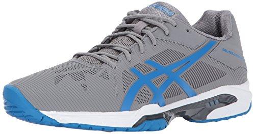 ASICS Men's Gel-Solution Speed 3 Tennis Shoe, Aluminum/Electric Blue/White, 6.5 Medium US