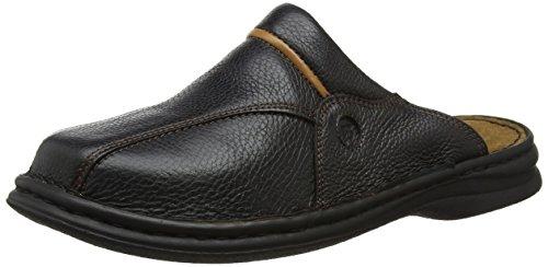 Josef Seibel Klaus Herren Clogs | Echtleder-Herrenschuhe für drinnen und draußen | Komfort-Schuhe aus Rindsleder, Schwarz (611 schwarz/cognac), 44 EU