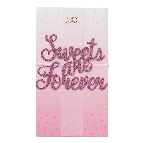 マークス ご祝儀袋 結婚式 結婚祝 グリッターメッセージ 金封 ホワイトピンク KNP-GB132-B