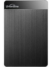 UnionSine 外付け ハードディスク 超薄型外付けHDD ポータブルハードディスク 1TB 2.5インチ USB3.0に対応 PC/Mac/PS4/XBox適用に対応 テレビ録画 (黒)HD-006