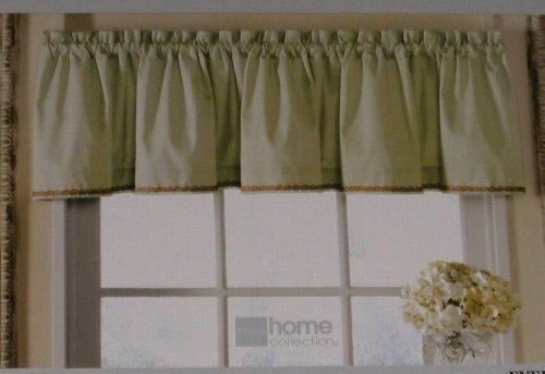 JC Penneys Home Collection Pale Green Window Valance Everett Curtain Topper