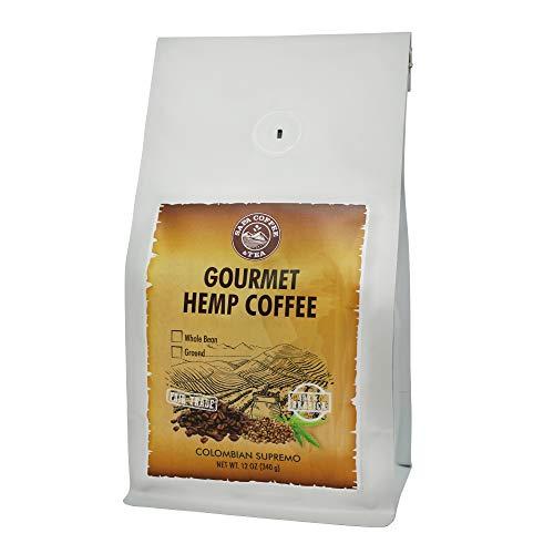 Sapa Hemp Coffee Colombian Supremo - Fair Trade 100% Arabica 12 oz Whole Bean