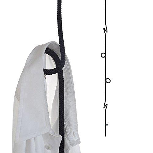 Loop Rope   Perchero colgante de cuerda de altura ajustable, color negro