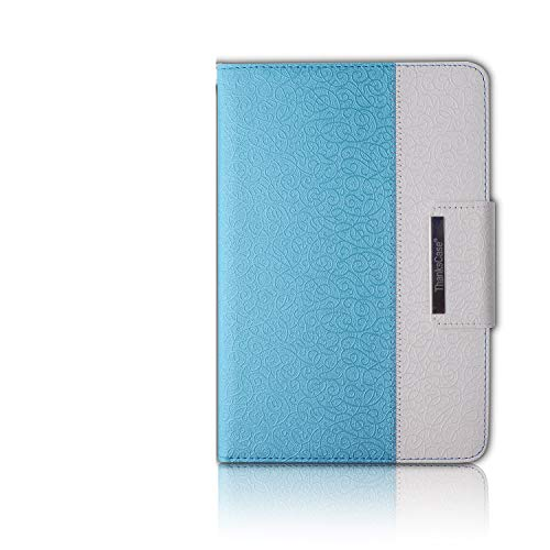 Thankscase Case for iPad Mini 3 / 2 / 1 (Not for iPad Mini 4), Rotating Case Smart Cover with Wallet Pocket and Hand Strap for iPad Mini 3 & 2nd Gen & 1st Gen.(Teal Blue)