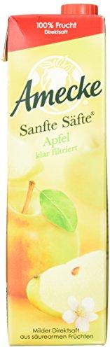 Amecke Sanfte Apfel Klar - 100 Prozent Saft, 6er Pack (6 x 1 l)