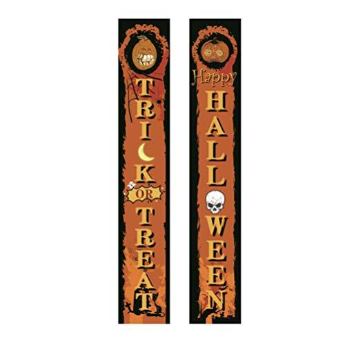 PRETYZOOM Halloween Banner Hängen Dekorationen Süßes Oder Saures Fröhliches Halloween Veranda Zeichen für Haustür Indoor Display Garten Büro Home Party Liefert