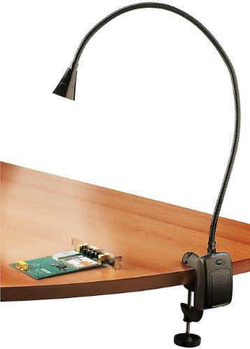Lunartec Flexible LED Leuchte: LED-Grill-, BBQ- & Arbeits- Schwanenhals-Lampe mit Schraubklemme (Flexible Lampe)