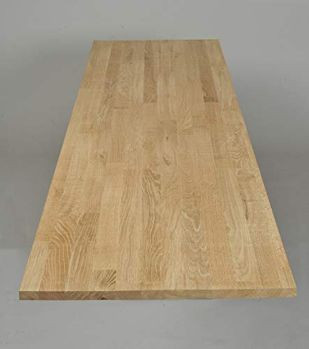 OAK Massive Eiche Discontinuous Stave Timber Block Holz Küchenarbeitsplatten Tischplatten 40x650x1100-2400mm (4x65x110cm)