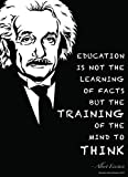 Albert Einstein Poster (18X24 LAMINATED) Albert Einstein Quotes Make Beautiful Science Decor (inspirational posters for classroom) Science Poster for Classrooms or Office