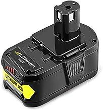 Boetpcr RB18L50 18V 5,5Ah Lithium-ion Batterie de Remplacement pour Ryobi One P108 RB18L40 RB18L25 RB18L15 RB18L13 P108 P107 P122 P104 P105 P102 P103 Outils compacts sans fil
