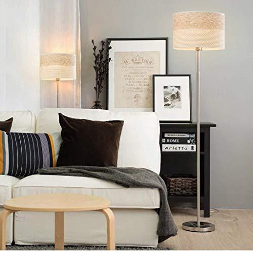 CLJ-LJ Lámpara LED minimalista Modern Living Room lámpara de suelo, dormitorio creativo Nordic Europeo lámpara de pie lámpara de pie con ojo de pie y cuidado vertical