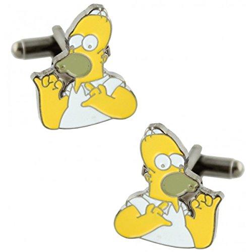 MasGemelos - Homer Simpsons Cufflinks Manschettenknöpfe