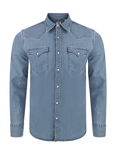 Levi's Herren Barstow Western Standard Shirt, Blau, XL