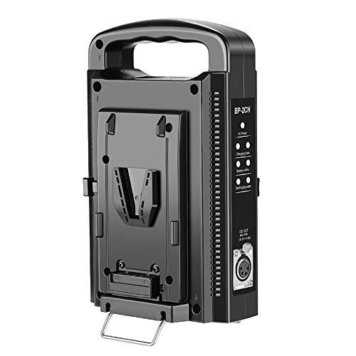 Fomito V-Mount Battery Charger Dual Channel for All 14.4V/14.8V BP Batteries