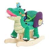 labebe Cavallo a Dondolo per Bambini - Coccodrillo Verde, in Legno con Imbottitura in Stoffa, Animale a Dondolo Giochi Infanzia