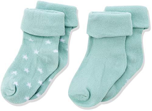 Noppies Baby-Unisex U 2 pck Levi Stars Socken, Grün (Grey Mint C175), One Size (Herstellergröße: 3M-6M)