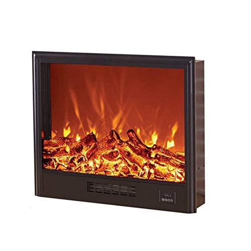 DGYAXIN Estufa calefactora de Pared, Chimenea eléctrica empotrada, Ornamental de Llama 3D, Enchufe de inserción y Sensor más Seguro, 1500 W, para Oficina en casa