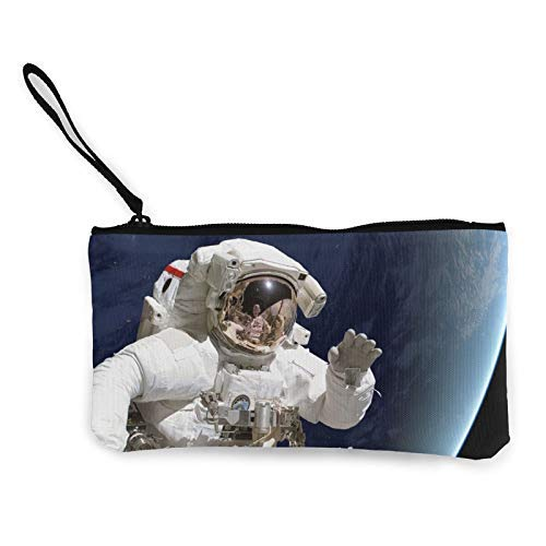 XCNGG Geldbörsen Shell Aufbewahrungstasche Space Astronaut Fashion Coin Purse Bag Canvas Small Change Pouch Multi-Functional Cellphone Bag Wallet Cosmetic Makeup Bag