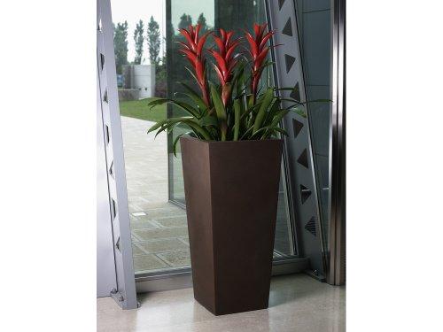 Euro3plast - Pot carré Kiam Gloss - 40 x 40 x 90 cm