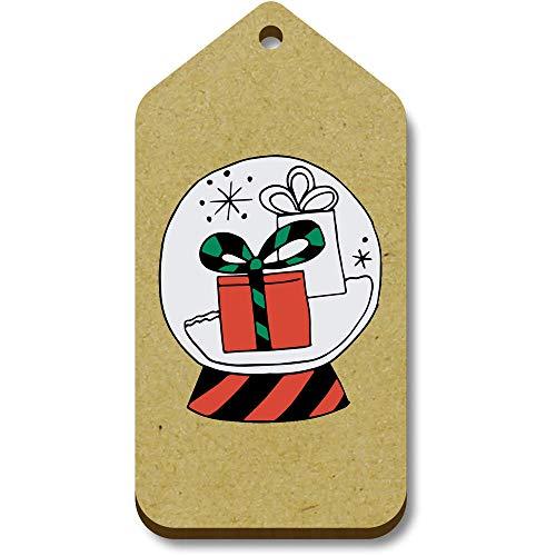Azeeda 10 x 'Gifts In Snow Globe' 66mm x 34mm Gift Tags (TG00096331)