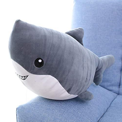 NOVELOVE Animal Marino de Peluche de Juguete Ballena tiburón muñeca Almohada para Dormir Regalo decoración de la habitación 100 cm tiburón