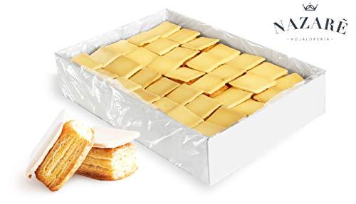 Nazaré Hojaldrería Surtido de Dulces de Hojaldre artesano de mantequilla con crujiente de azúcar - Teclas - 72 Unidades 1100 gr