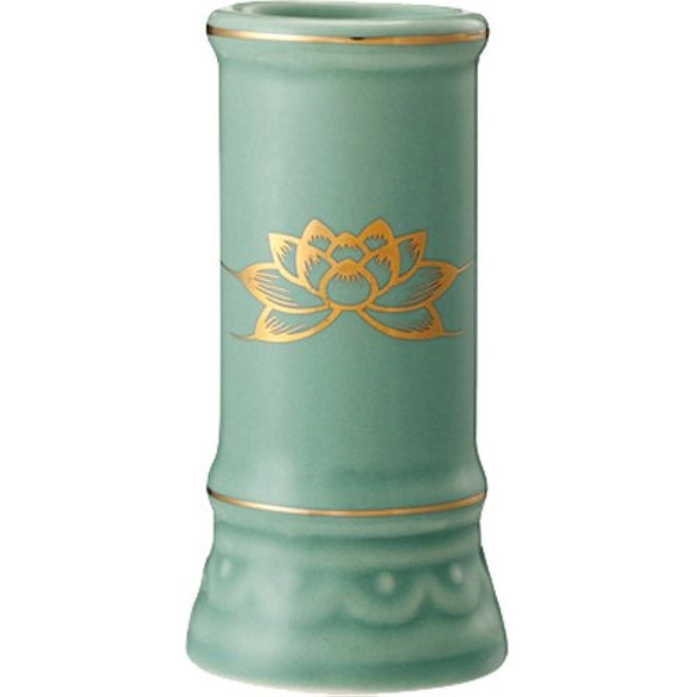 ギャラリーアラーム伝染病日本香堂 線香立て ミニ陶器青磁