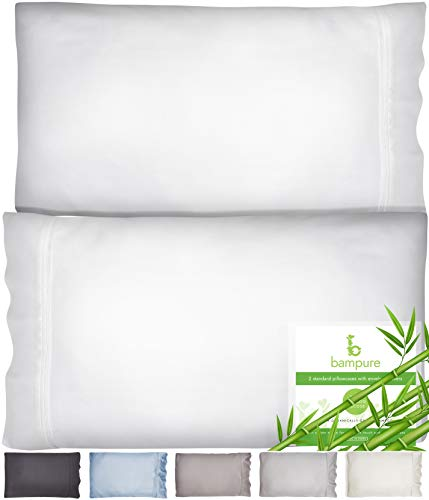 BAMPURE Bamboo Pillow Cases King Size Pillow Cases Set of 2 20x40100% Organic Bamboo White King Pillow Cases Set of 2 King Pillow Case King Size Pillow Case King Pillow Cases King Pillowcase