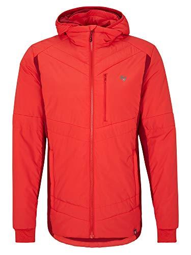 Ziener Męska kurtka Primaloft | funkcjonalna, ciepła, z wstawką ze stretchu, czerwona, 50