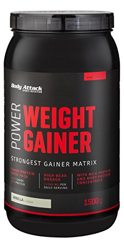 Body Attack Power Weight Gainer Vanilla, 1er Pack (1 x 1.5 kg)