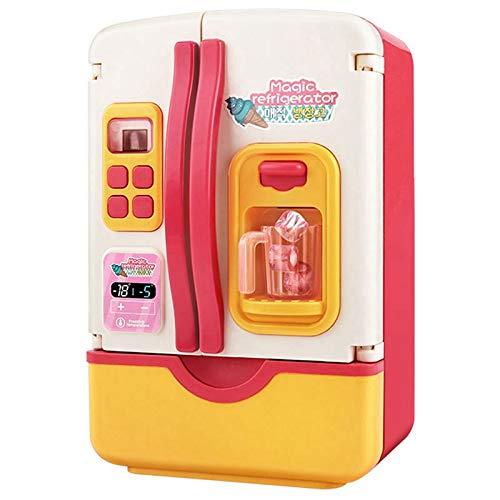 TOOGOO 39 Pz   Set Bambini Doppia Porta Giochi di Ruolo Frigorifero Un Pagamento Giocattolo Contatto Frigorifero Elettrodomestico Giocattolo per Bambini-Rosso