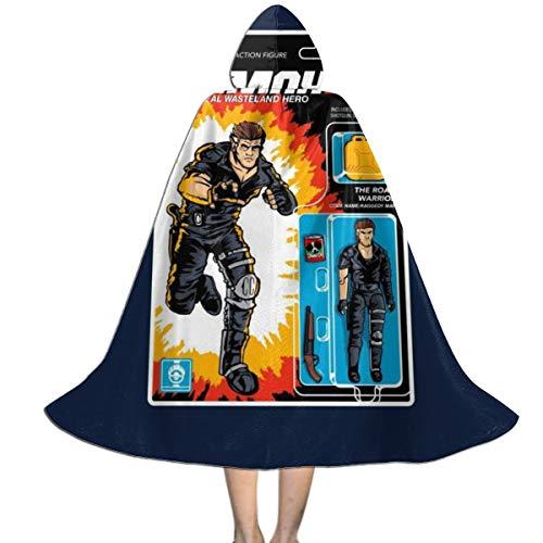 NUJSHF Real Wasteland Hero Figura de acción Mad MAX Unisex Capa con Capucha para Halloween Navidad Decoración de Fiesta de Papel Cosplay Disfraces