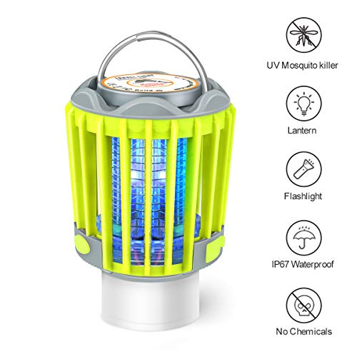 Camping Lantern Flashlight Bug Zapper 3in1 Portable Rechargeable Lights for Camping