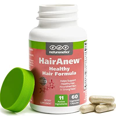 HairAnew (Unique Hair Growth Vitamins with Biotin) - Tested - for Hair, Skin and Nails - Women and Men - Addresses Vitamin Deficiencies That Could be The Cause of Hair Loss or Lack of Regrowth