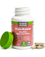 HairAnew Hair Skin and Nails Vitamins for Women & Men - Trusted Hair Supplement - Vegan - 11 Hair Vitamins & Ingredients for Growth in Confidence & Appearance - 5000mcg Biotin - 60 Capsules