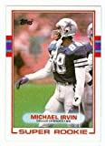 Michael Irvin football card (Dallas Cowboys) 1989 Topps #383 Rookie Card. rookie card picture