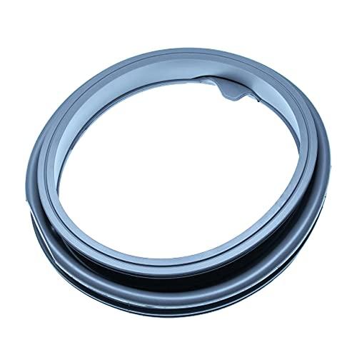 vhbw Goma de escotilla compatible con Samsung WF1602NHW/YLE, WF1602NHWG/YLE, WF1602NHWXEC lavadora - caucho, diámetro 40 cm, gris