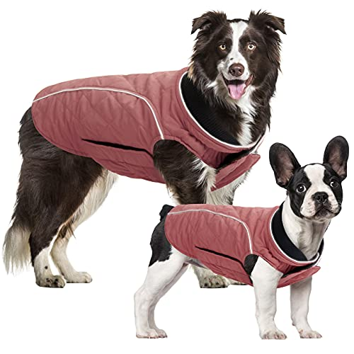 SUNFURA Warm Dog Jacket Pet Cold Weather Coat, Reversible Windproof & Waterproof Winter Dog Coat...