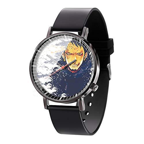 Anime One Piece Luffy Serie Reloj de Cuarzo analógico a Prueba de Agua Reloj de Banda de Gel de sílice de Acero Inoxidable Reloj de Moda Unisex Niño Niña Regalo-A1