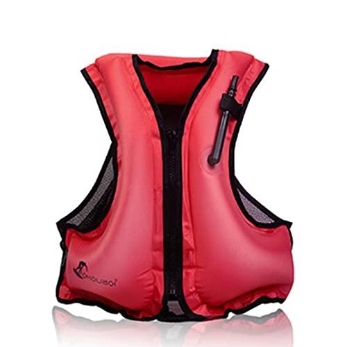 Chaquetas Y Chalecos Salvavidas Salvavidas Chaleco Flotador para Barcos Kayak Adulto Chaleco de flotabilidad Talla única Pesca al Aire Libre,Red