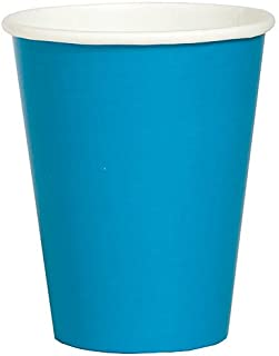 Creative Converting Touch of Color Paper Hot/Cold Party Cup, Turquoise (24 Cups)