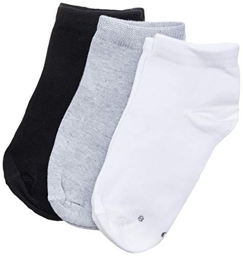 Kit 3 meias básicas sapatilhas, Lupo, Unissex Criança, Sortida, 28-31