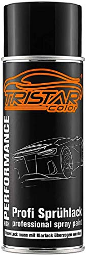 TRISTARcolor Autolack Spraydose für VW/Volkswagen LA7W Reflexsilber Metallic/Reflex Silver Metallic Basislack Sprühdose 400ml