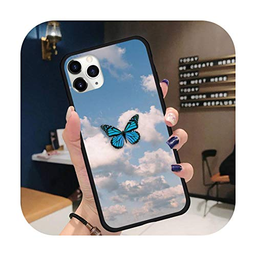 Butterfly sky cloud Phone Case for iPhone 11 12 pro XS MAX 8 7 6 6S Plus X 5S SE 2020 XR-a13-iPhoneX or XS