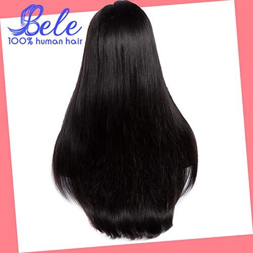 Bele Hair Brésilienne Perruques de Cheveux Humains Droite Lace Front Perruque Pré Plumée Pour Les Femmes Noires 130% Densité Dentelle Perruques 12 pouce