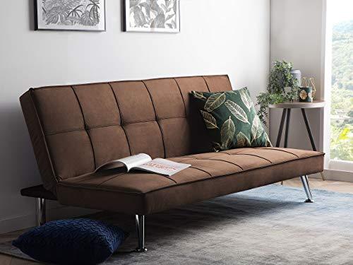 Schlafsofa braun Couch Klappcouch Bettsofa Hasle