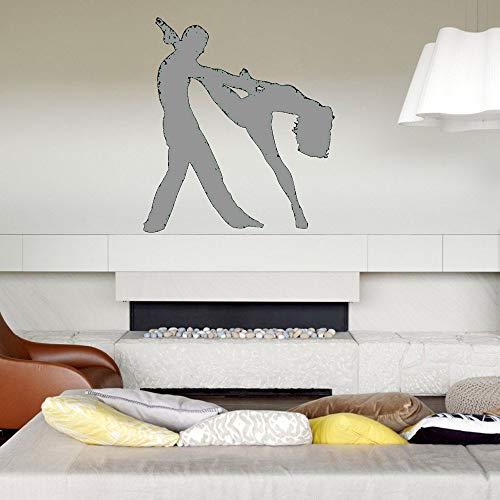 Zaosan Wand VinylAufkleber schlafzimmerpaar Tanz wandtattoo elegantetänzerinkunstaufkleberzuhauseraumdekoration 42x47cm