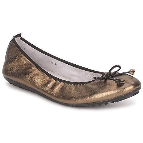 Mac Douglas Eliane Ballerinas Damen Bronze/Schwarz - 39 - Ballerinas Shoes