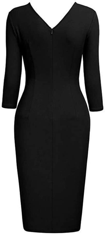 SSTT Womens Asymmetric Ruched Business Work Pencil Dress that Suitables for Cocktail Party,Green,S